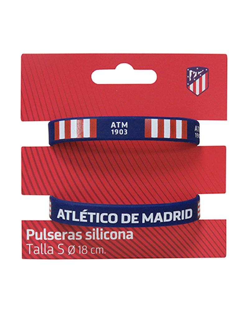62d67507db87e ATLETICO DE MADRID Set de 2 pulseras de silicona tamaño infantil ...